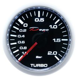 Mjerač DEPO racing Tlak turba električni - Night glow serija 2BAR