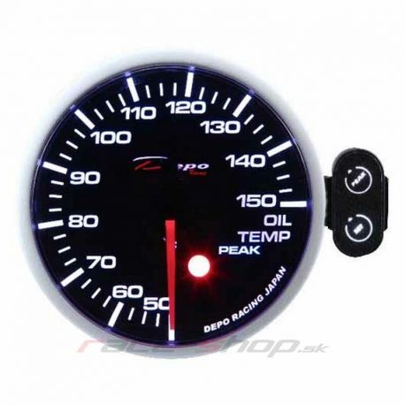 Mjerni instrument DEPO PK serie 52mm Programirajući Mjerač DEPO racing Temperatura ulja   race-shop.hr