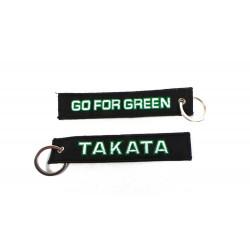 Privjesak za ključeve Takata go for green crni