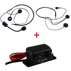 Set centrale interfona Terratrip Clubman + 2x headset