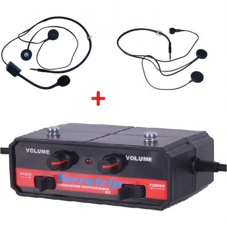 Interfoni set Set centrale interkomu Terratrip Professional + 2x headset | race-shop.hr