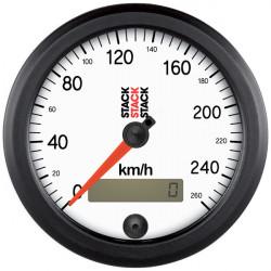Mjerač STACK Professional brzinomjer 80mm - bijeli