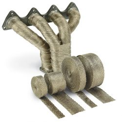 Termo izolacijska traka za ispušne grane i auspuh DEI - 25mm x 30m Titanium