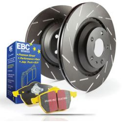 Front kit EBC PD08KF475 - Discs Ultimax Grooved + brake pads Yellowstuff