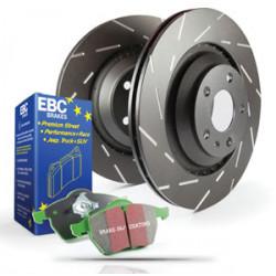 Rear kit EBC PD06KR073 - Discs Ultimax Grooved + brake pads Greenstuff