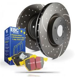 stražnji set EBC PD13KR009 - Kočioni disk Turbo Grooved + kočione pločice Yellowstuff