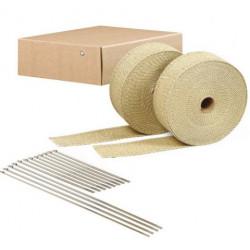 Termo izolacijska traka za ispušne grane i auspuh DEI 2szt. - 5 cm x 15 m Tan + vezice