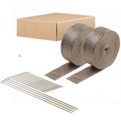 Termo izolacijska traka za ispušne grane i auspuh DEI 2szt. - 5 cm x 15 m Titanium + vezice