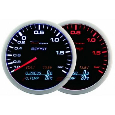 Mjerni instrument DEPO 4v1 60mm Mjerni instrument DEPO 4v1 60mm Black – Turbo Pritisak + pritisak ulja + temperatura ulja + voltmetar   race-shop.hr